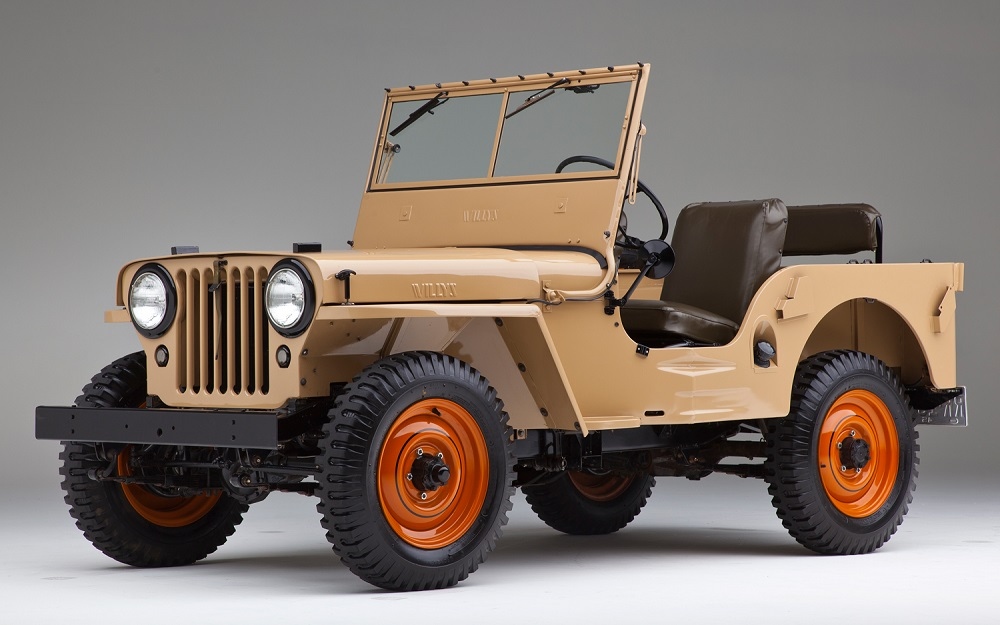 1945 Willys-Overland Model CJ2A. Credit to motortrend.com