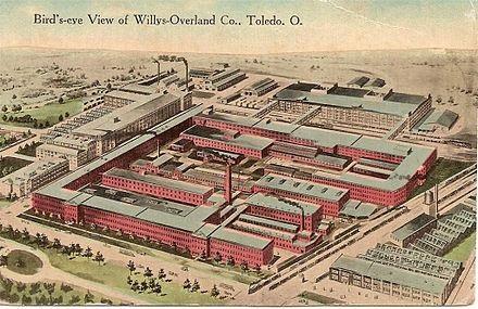 Postcard - Toledo, Willys-Overland Factory 1915