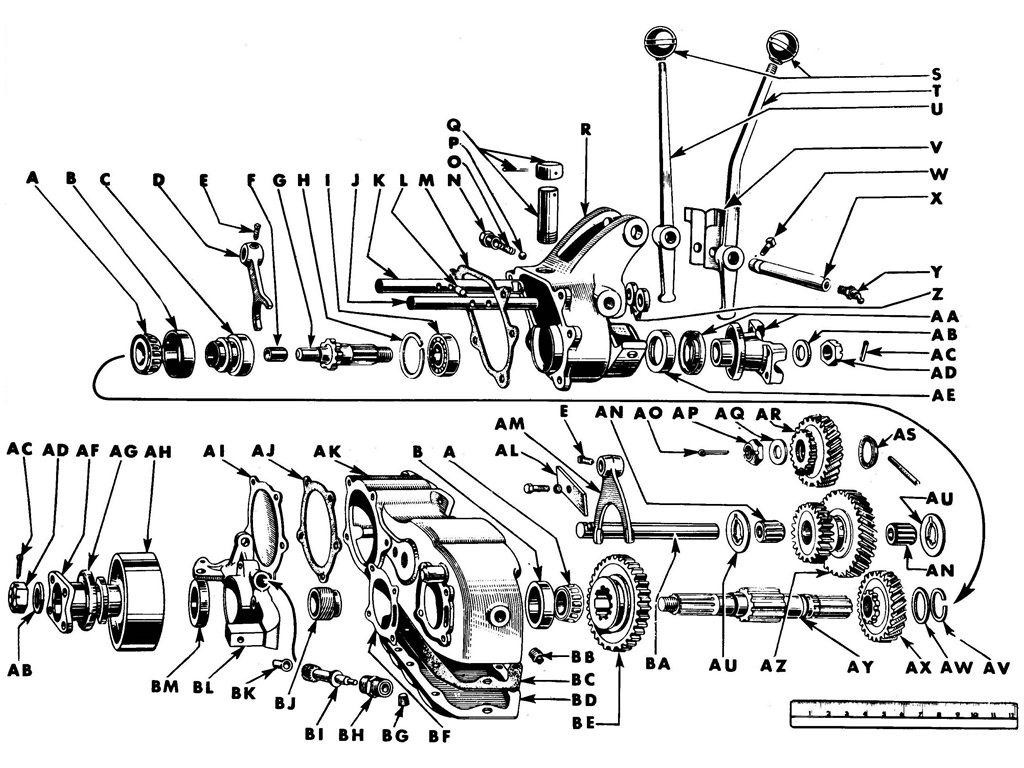 Transfer Case - Ford GPW -Willys MB. Credit to CarPartsManual.com