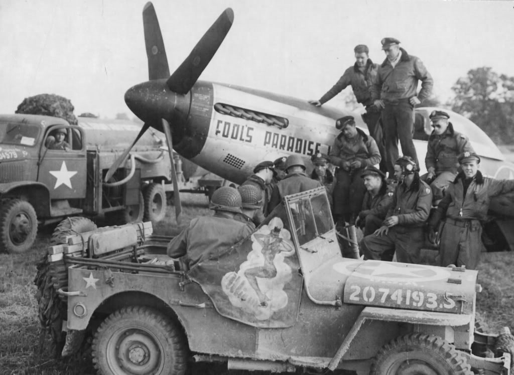 1944 - 363rd Fighter Group, US 380th Fighter Squadron. Credit to American Air Museum in Britain.