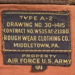 Label - A-2 Flying Jacket - General MacArthur